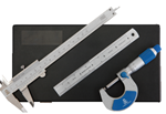 Micrometer, Vernier Caliper and Engineers Rule Set